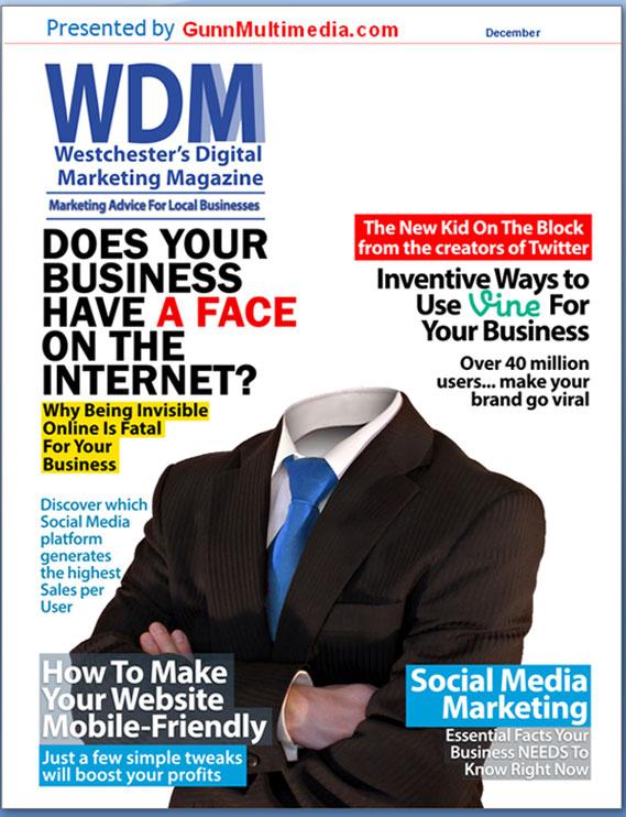 Michel Gunn and Neil Cohen's Dec issue of Westchester's Digital Marketing Magazine