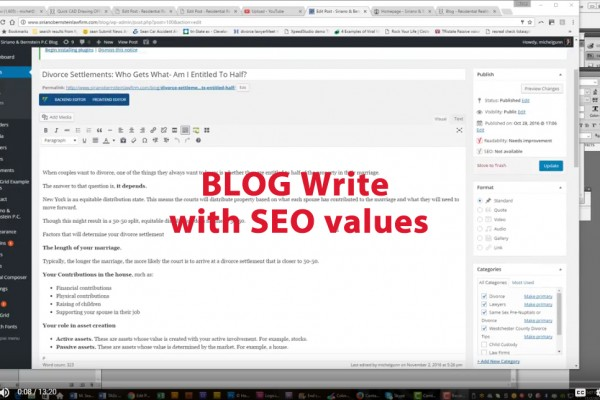 blog writing with SEO Values