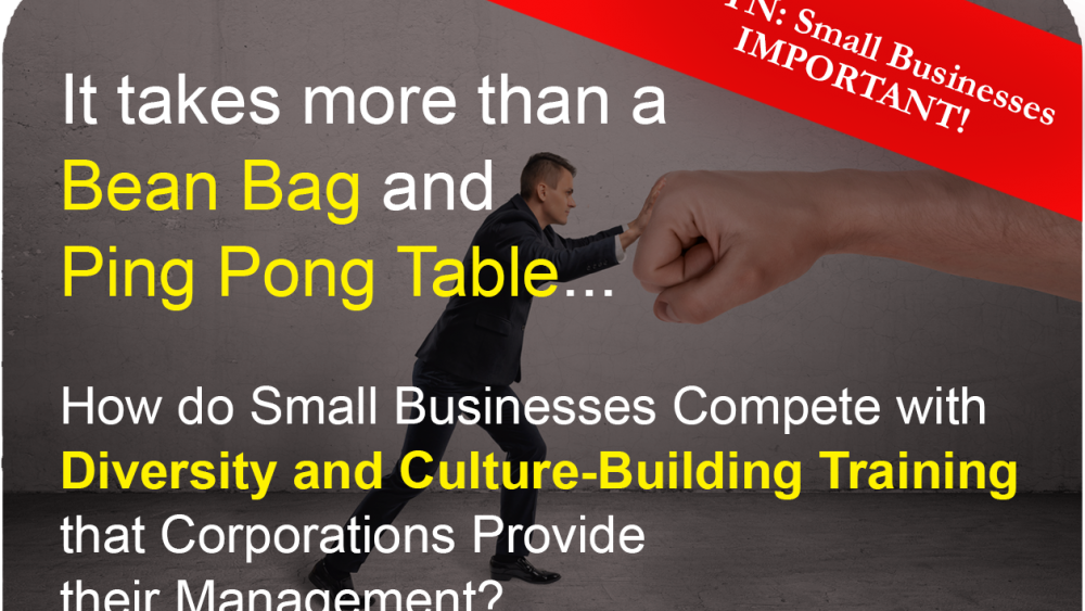 Small Business getting lost again. Corporate Diversity training