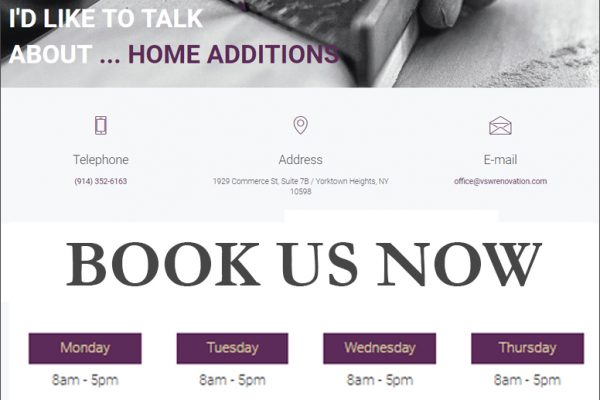 Book Now Web Pages